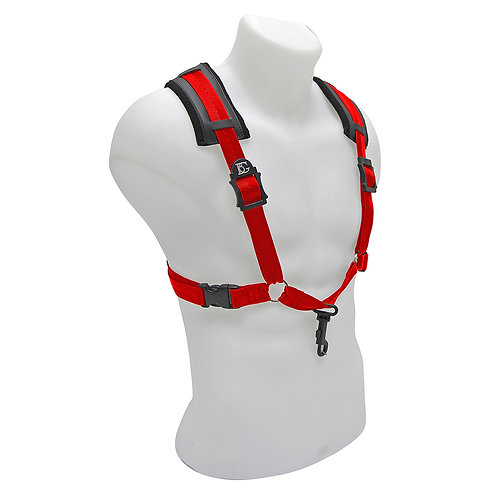 BG A and T Saxophone Comfort Harness ~ Men ~ Red ~ Snap Hook