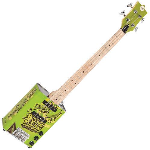 Bohemian Oil Can Bass Guitar ~ Electric Limeade