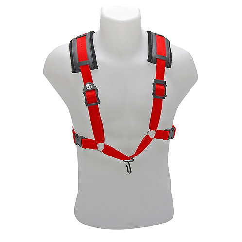 BG� Saxophone Comfort Harness ~ Men ~ Red ~ Metal Hook