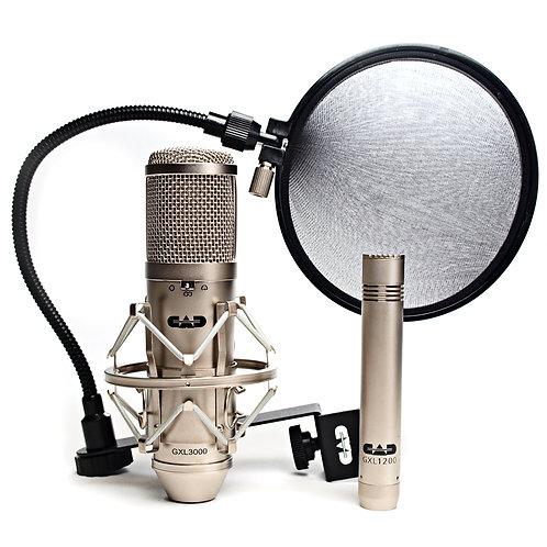 CAD GXL 3000 Microphone Studio Pack - Satin - GXL3000 / GXL1200 / EPF15A