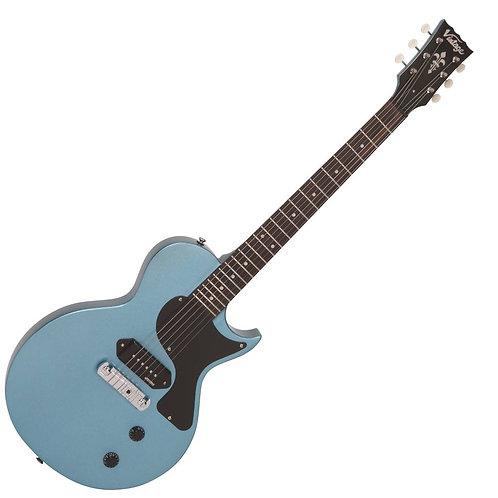 Vintage V120 ReIssued Electric Guitar ~ Gun Hill Blue