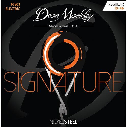 Dean Markley Regular 10-46 NickelSteel Electric Signature Series String Set