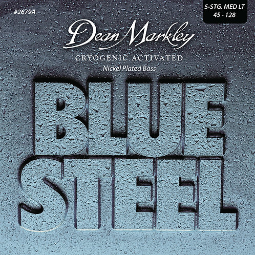 Dean Markley Blue Steel NPS Bass Guitar Strings Medium Light 5 String 45-128