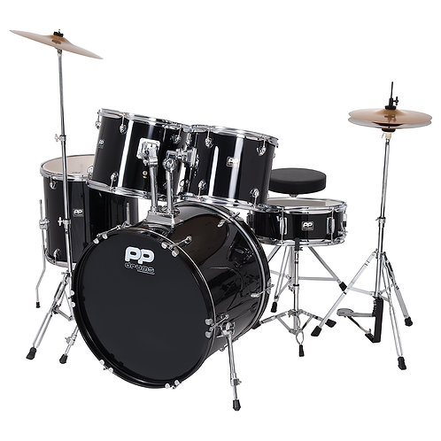 PP Drums� Full Size 5 Piece Drum Kit ~ Black