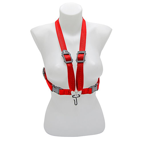 BG Alto, Tenor & Baritone Sax XL Womens Harness ~ Red ~ Metal Hook