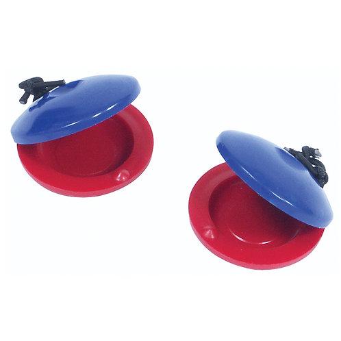 PP World Plastic Finger Castanets ~ Red/Blue Pair
