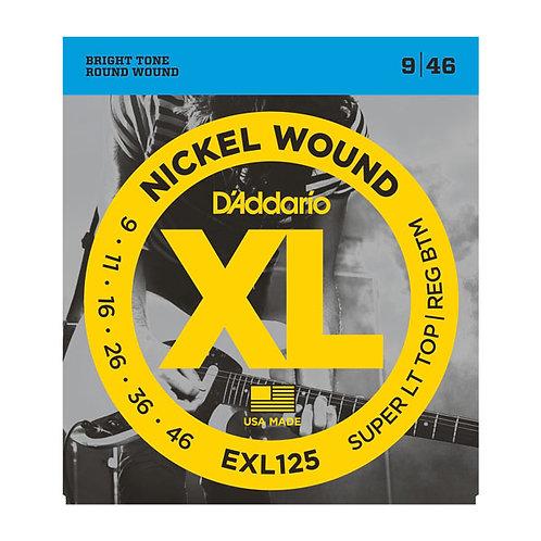 D'Addario EXL125 Super Light Top/Regular Bottom 9-46