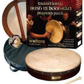 """Traditional Pack 15"""" Classic Brown Bodhran"""