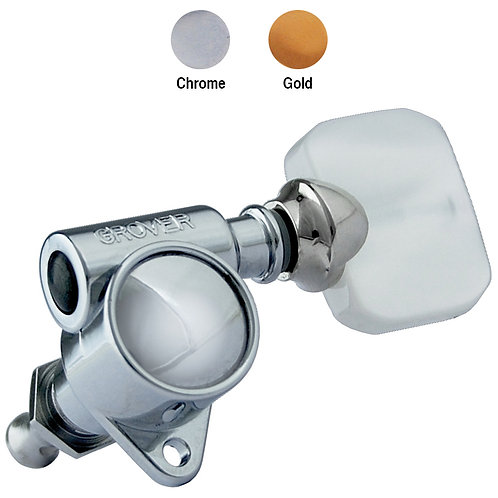 Grover Vintage Rotomatics - Pearloid Button - Chrome