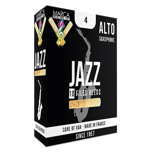 Marca Jazz Filed Reeds - 10 Pack - Alto� Sax - 4