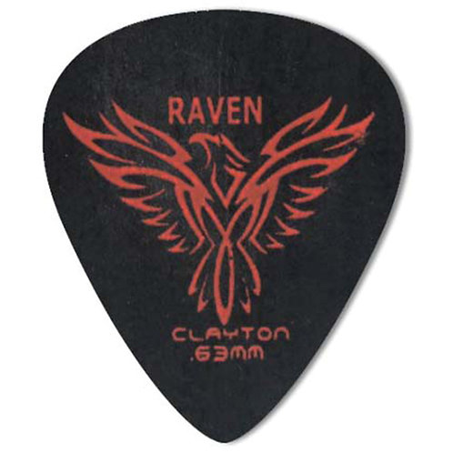 Clayton BLACK RAVEN PICK STANDARD .63MM (72 Pack)