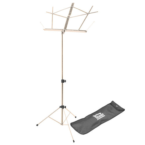 On-Stage Compact Music Stand w/Bag- Nickel