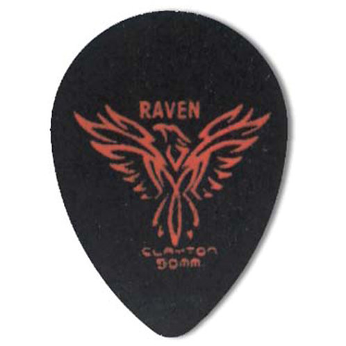 Clayton BLACK RAVEN PICK SMALL TEARDROP .50MM (72 Pack)