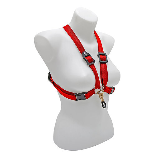 BG Alto and Tenor Harness XL Women Red Coated ~ Metal Hook
