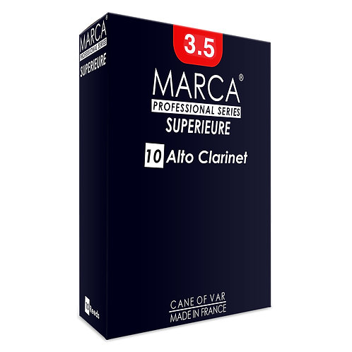 Marca Superieure Reeds - 10 Pack - Alto Clarinet - 3.5