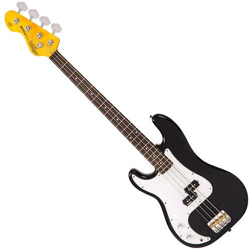Vintage V4 Reissued Bass ~ Boulevard Black - Left Hand