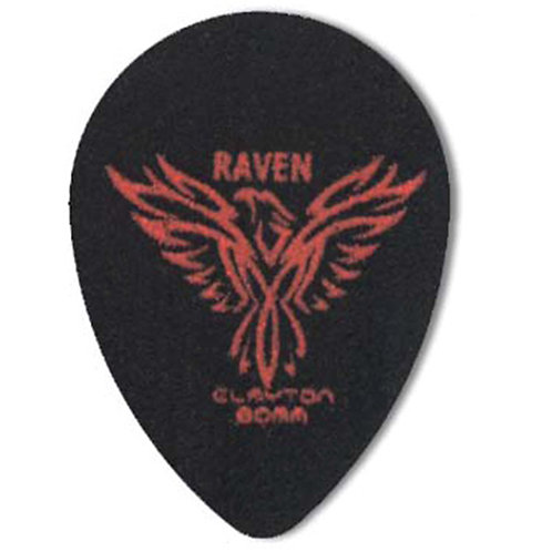 Clayton BLACK RAVEN PICK SMALL TEARDROP .80MM (12 Pack)