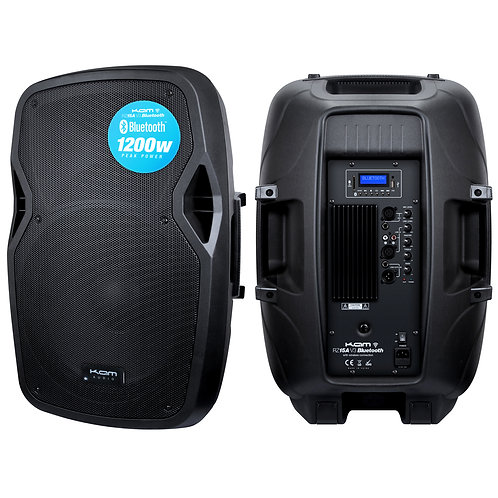 """KAM 15"""" Active Speaker with Bluetooth ~ 1200w"""