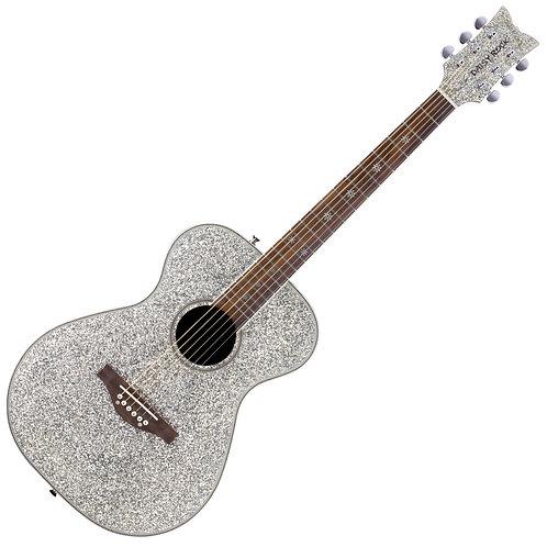 Daisy Rock 'Pixie' Acoustic Guitar ~ Silver Sparkle