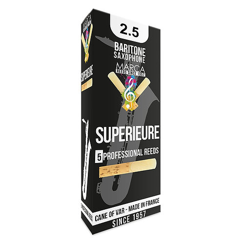 Marca Superieure Reeds - 5 Pack - Baritone Sax - 2.5