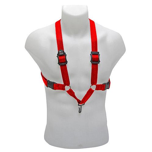 BG Alto, Tenor & Baritone Sax XL Harness ~ Red ~ Metal Hook