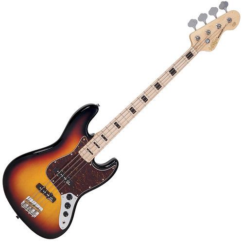 Vintage VJ74 ReIssued Maple F/Board Bass ~ Sunset Sunburst