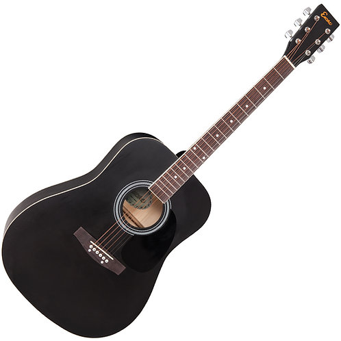 Encore Acoustic Guitar ~ Black