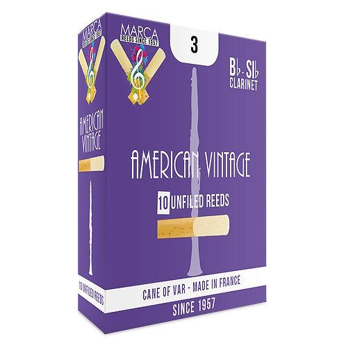 Marca American Vintage Reeds ~ 10 pack ~ Bb Clarinet ~ 3
