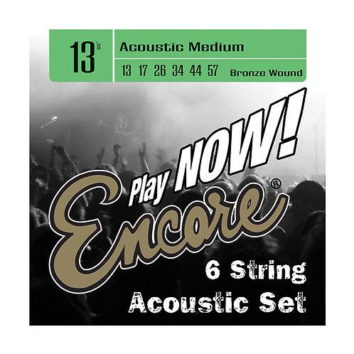 Encore Bronze Wound Acoustic Guitar String Set - Medium