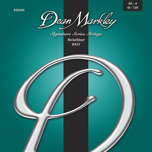 Dean Markley NickelSteel Signature Bass Strings Medium Light 4 String 45-105