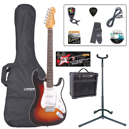 Encore E6 Electric Guitar Pack ~ Sunburst