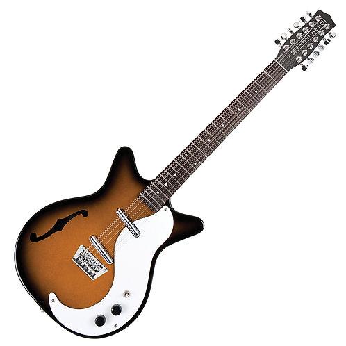 Danelectro '59 12 String Guitar With F-Hole ~ Tobacco Sunburst