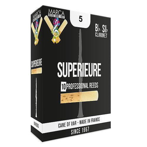 Marca Superieure Reeds - 10 Pack - Bb Clarinet - 5
