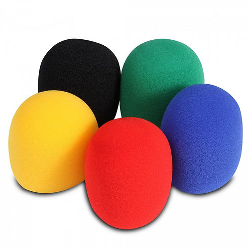 On-Stage Microphone Windscreens - Multi Coloured 5-Pack