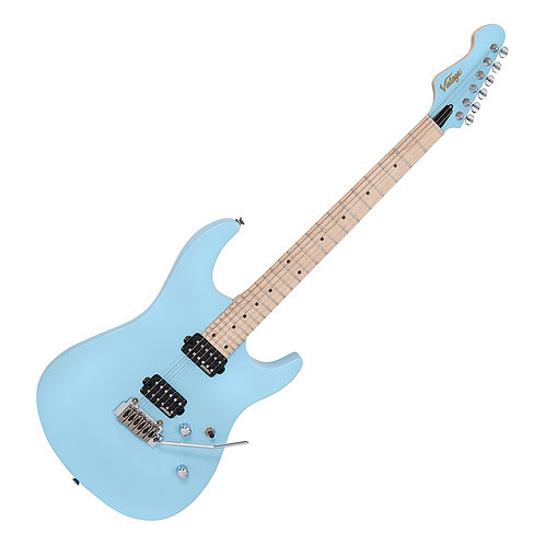 Vintage V6M24 ReIssued Electric Guitar ~ Laguna Blue