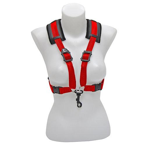 BG Alto & Tenor Sax Womens Harness ~ Red ~ Snap Hook