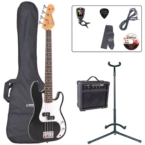 Encore E20 7/8 Bass Guitar Pack ~ Black