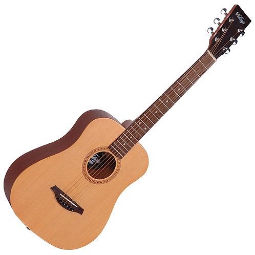 Vintage VTG100 Acoustic Travel Guitar ~ Natural