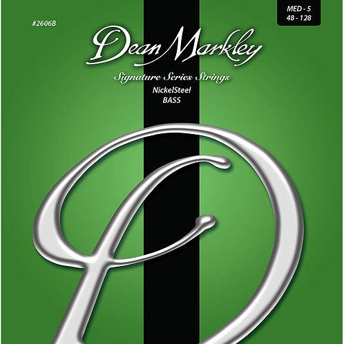 Dean Markley NickelSteel Signature Bass Strings Medium 5 String 48-128