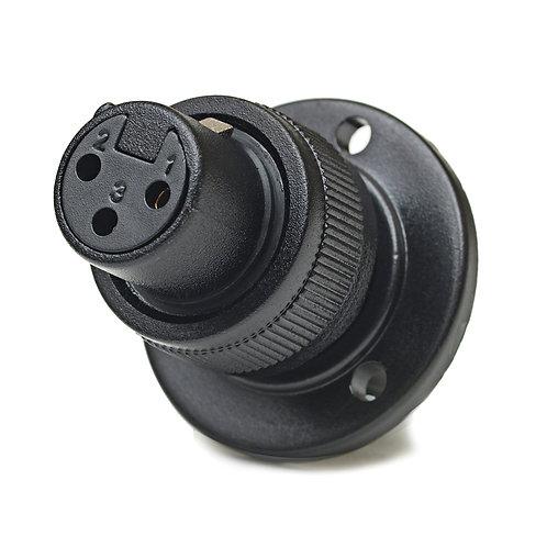 CAD XLR-F Connector Mounting Flange w/Lock Ring for Mini Gooseneck Mics