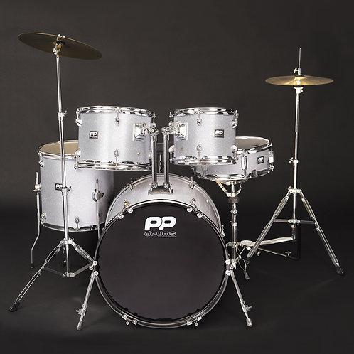 PP Drums 5pc Fusion Drum Kit ~ Silver