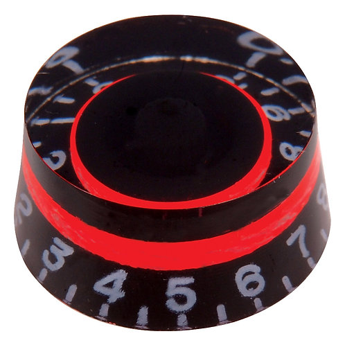 Guitar Tech Control Knobs ~ Black/Flourescent Red