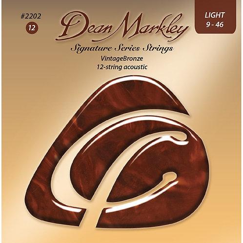 Dean Markley Vintage Bronze Light 12 String 9-46 Acoustic Strings Set