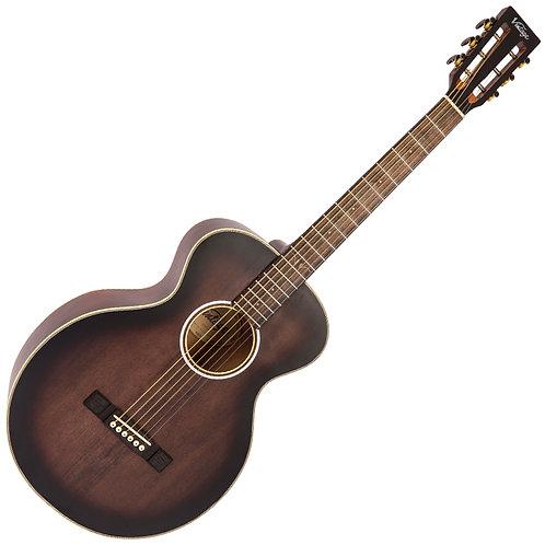 Vintage Historic Series 'Parlour' Acoustic Guitar ~ Aged Finish