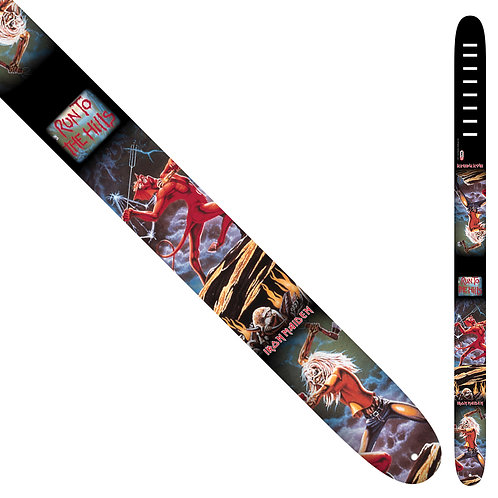 Perri's Leather Guitar Strap ~ Iron Maiden ~ Skull Fang