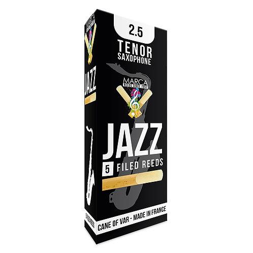 Marca Jazz Filed Reeds - 5 Pack - Tenor� Sax - 2.5