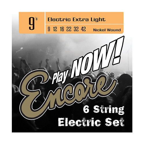 Encore Nickel Wound Electric Guitar String Set - Extra Light