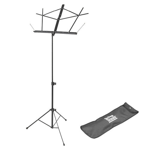 On-Stage Compact Music Stand w/Bag - Black