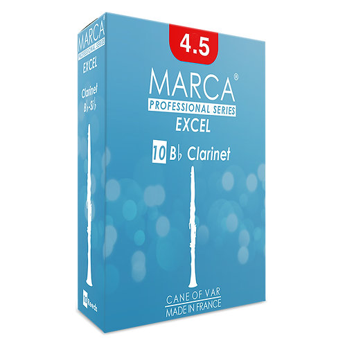 Marca Excel Reeds ~ 10 Pack ~ Bb Clarinet ~ 4.5