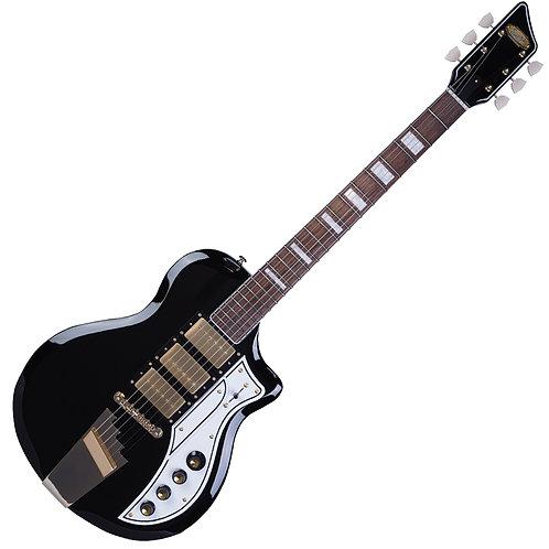Supro 1275 Tri Tone Electric Guitar ~ Jet Black